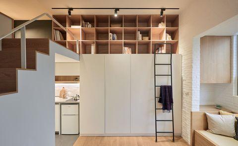 Apartamento en Taiwan. Ideas a medida para ganar zonas de almacén