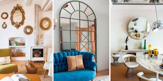 ideas para decorar las paredes con espejos