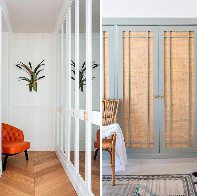 ideas decoración para las puertas de armarios y vestidores