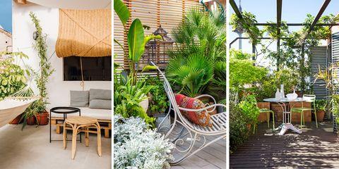 mobiliario y detalles para una terraza con estilo