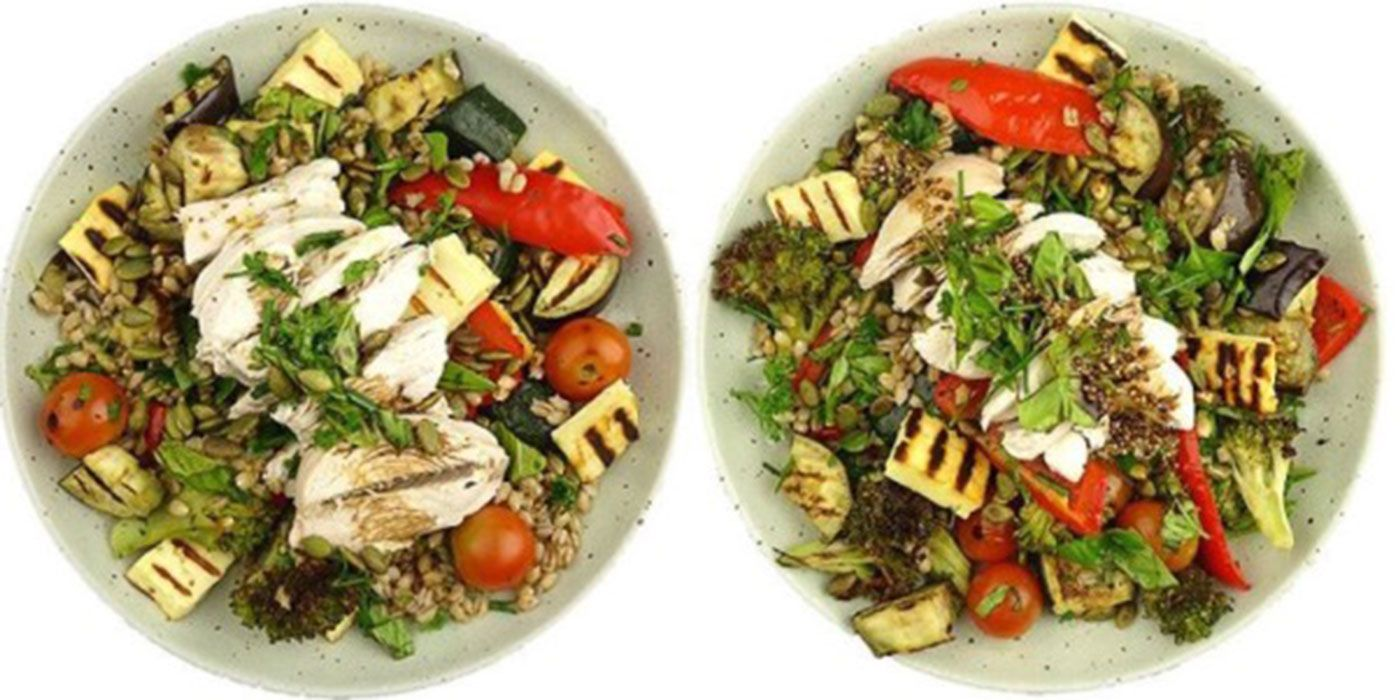 One of these 'identical' salads has almost double the calories