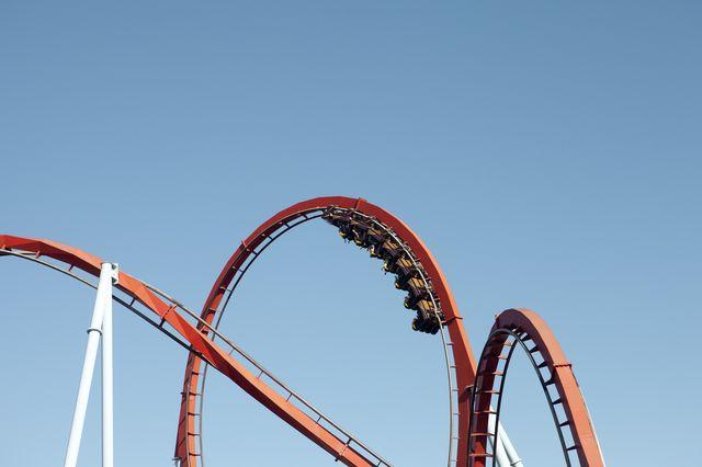 roller coaster, salou, spain
