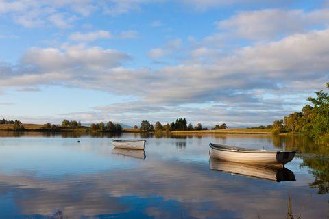 idyllic loch rusky in the trossachs of scotland