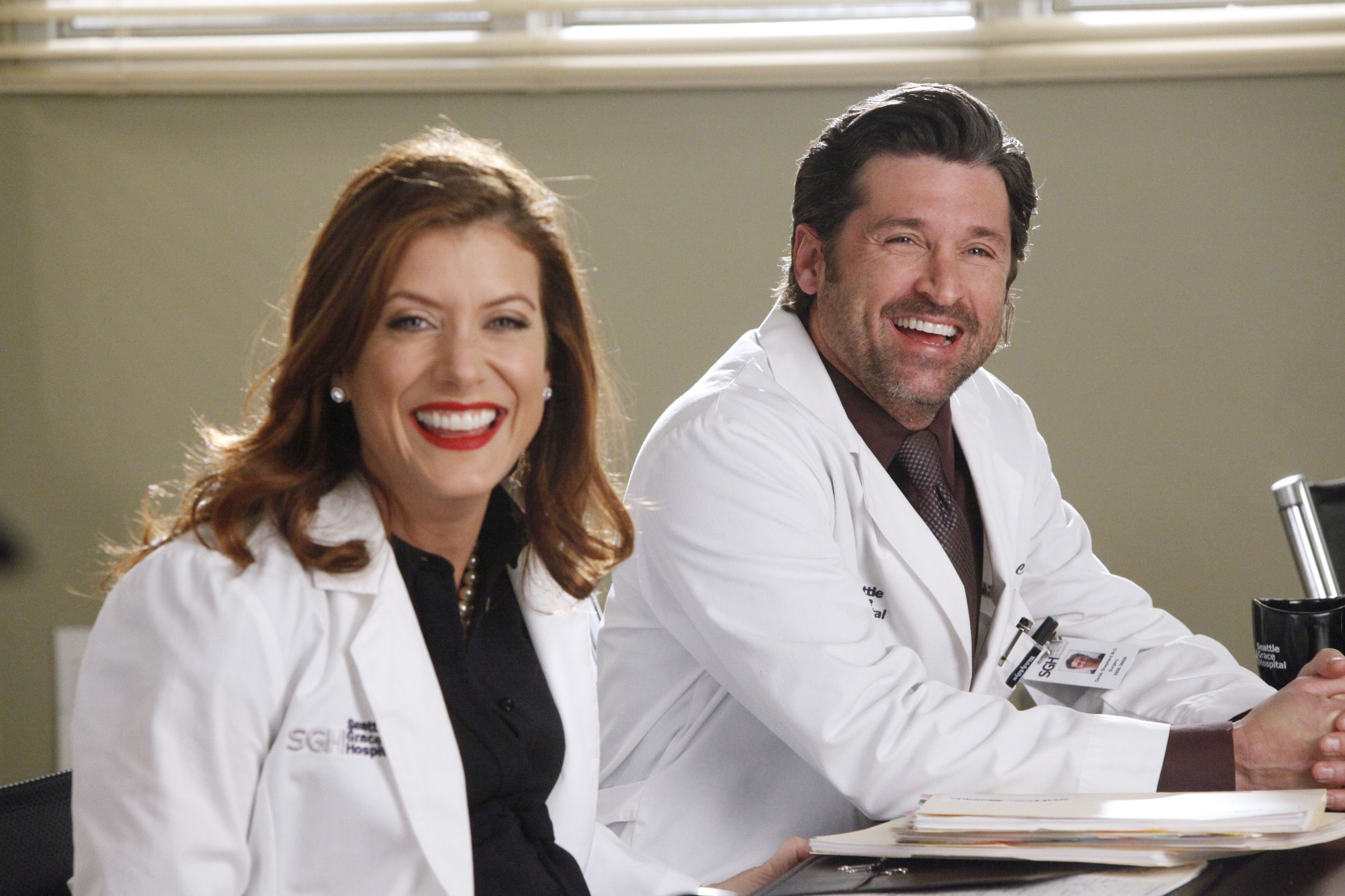 Patrick Dempsey Calls Greys Anatomy Star Kate Walsh Beautiful On