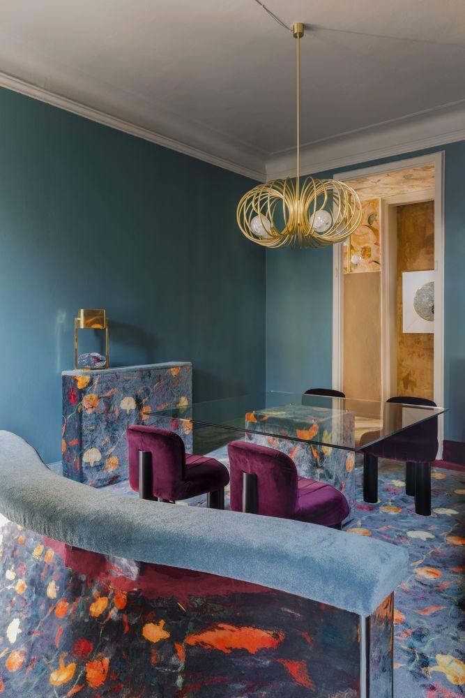 Italian designer Cristina Celestino pioneers the return of carpet-clad interiors