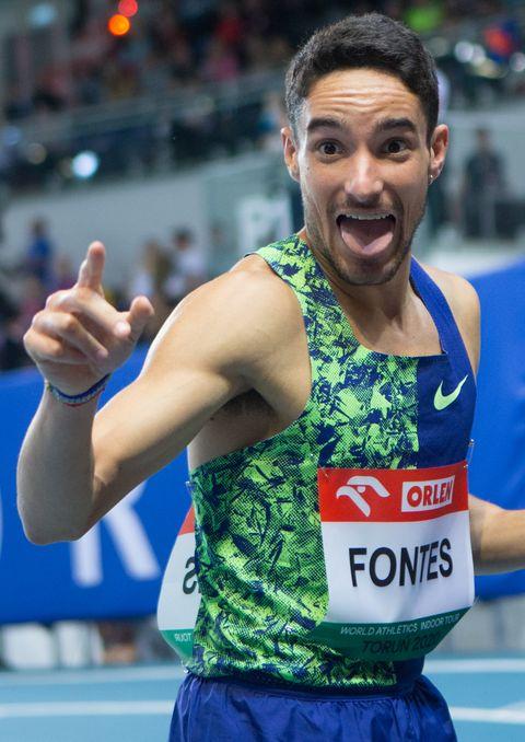 ignacio fontes celebra su victoria en los 1500 metros de la copernicus cup de torun del año pasado