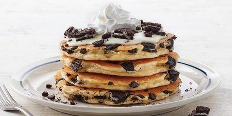 Dish, Food, Pancake, Cuisine, Dessert, Ingredient, Chocolate chip, Breakfast, Baked goods, Recipe,