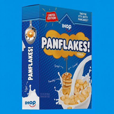 ihop is releasing panflakes cereal which is made up of tiny pancake pieces