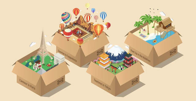 vacation boxes graphic