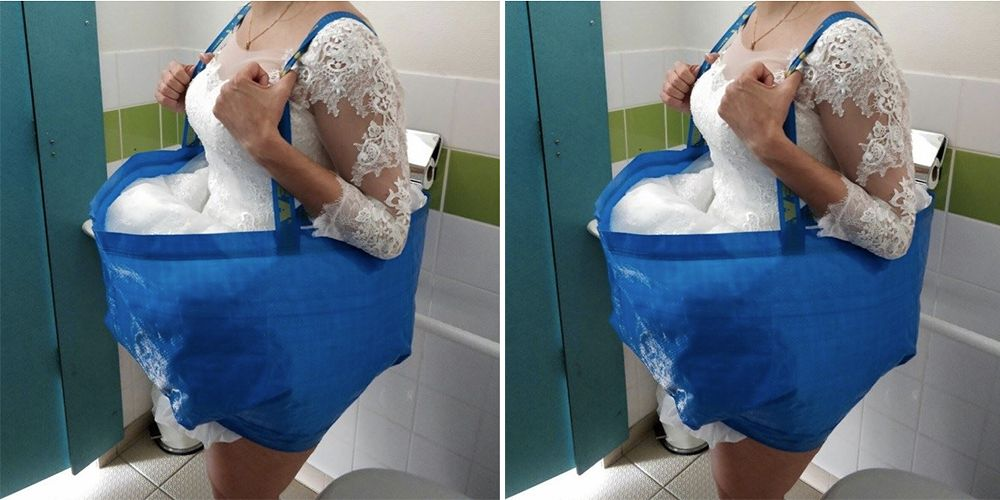 This Genius Ikea Bag Hack Will Help Brides Go To The