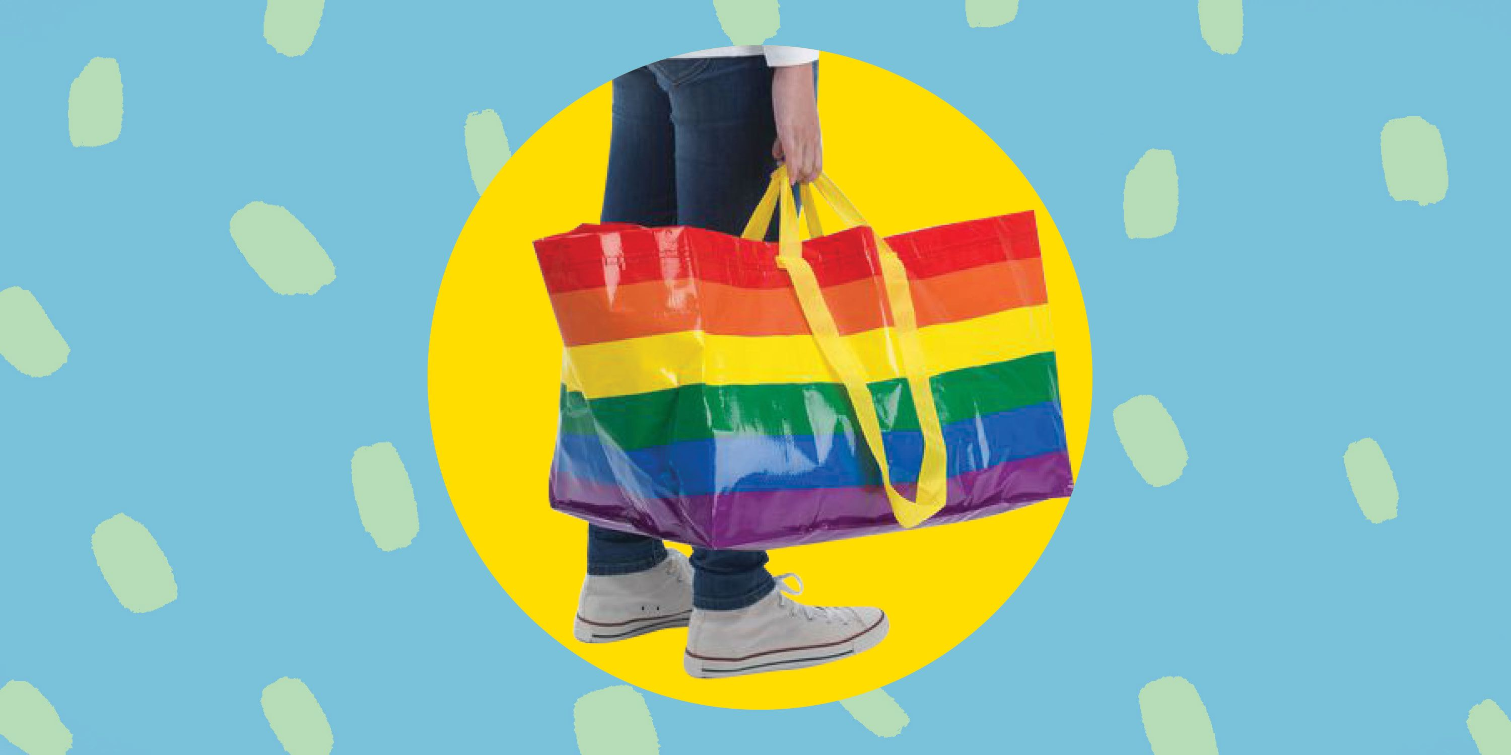 IKEA's Iconic Shopping Bag Is Now Available in Rainbow—for a Great Cause