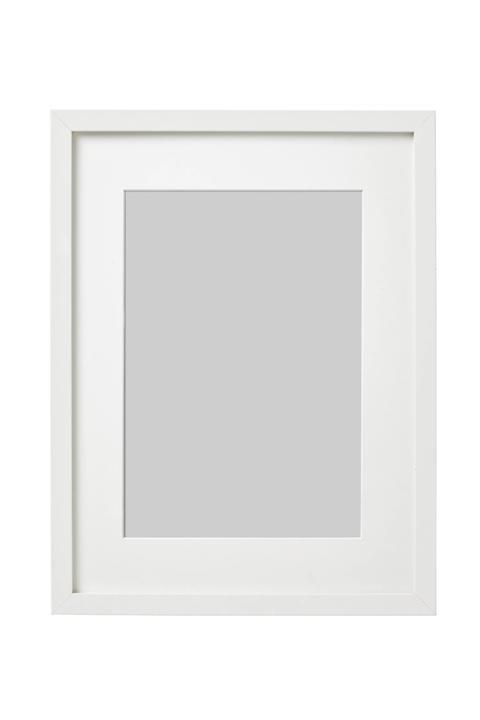 white ribba picture frame