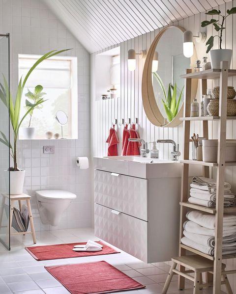 Espejo redondo de baño de IKEA