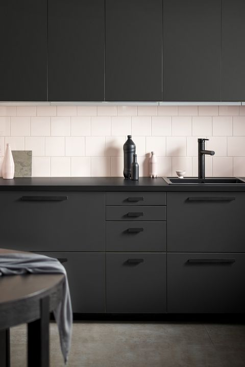 Black kitchen, Ikea
