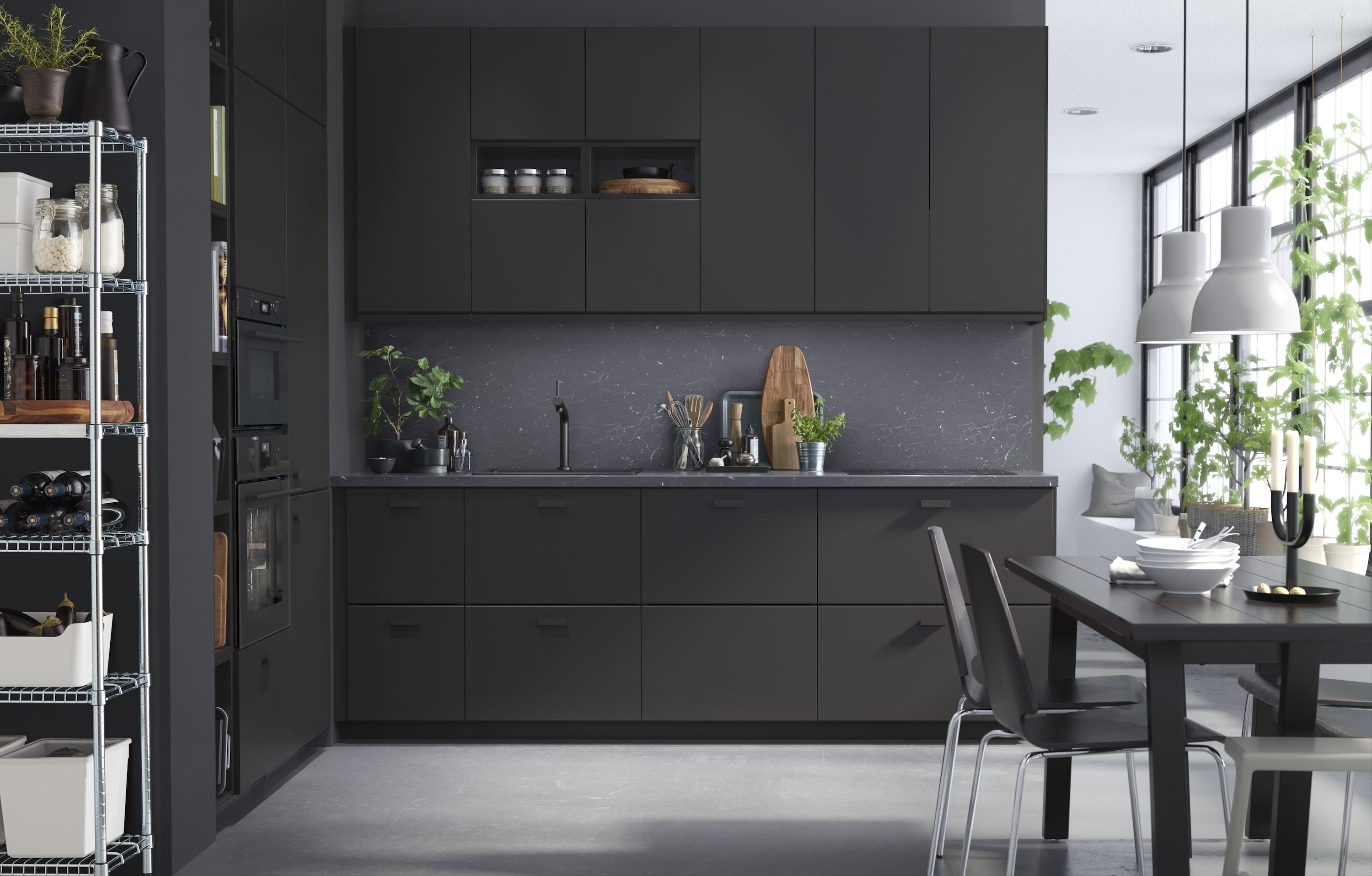 IKEA Kitchen Cabinets Made From Recycled Materials Black IKEA Cabinets