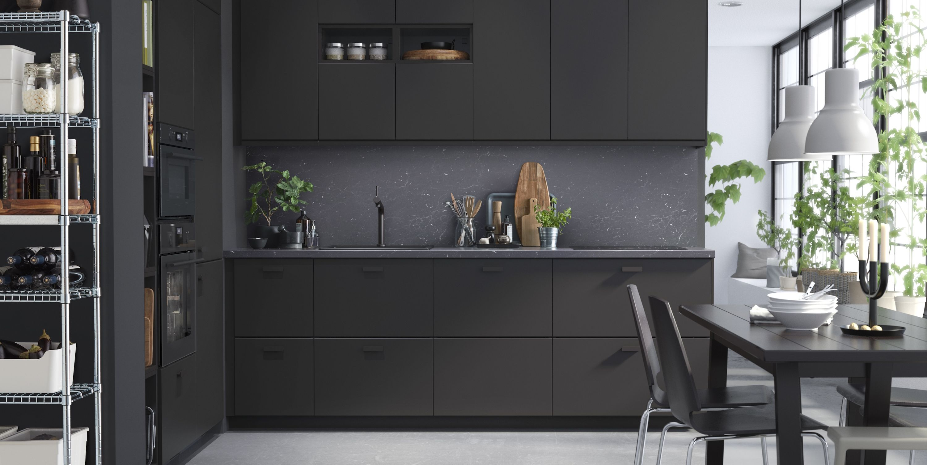 IKEA Kitchen Cabinets Made From Recycled Materials   Black IKEA