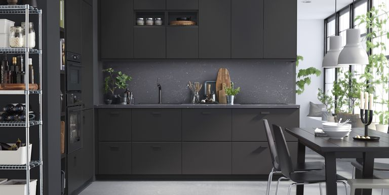 ikea kitchen cabinets IKEA Kitchen Cabinets Made From Recycled Materials  Black