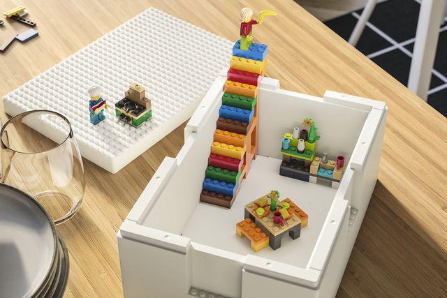 open lego box with set
