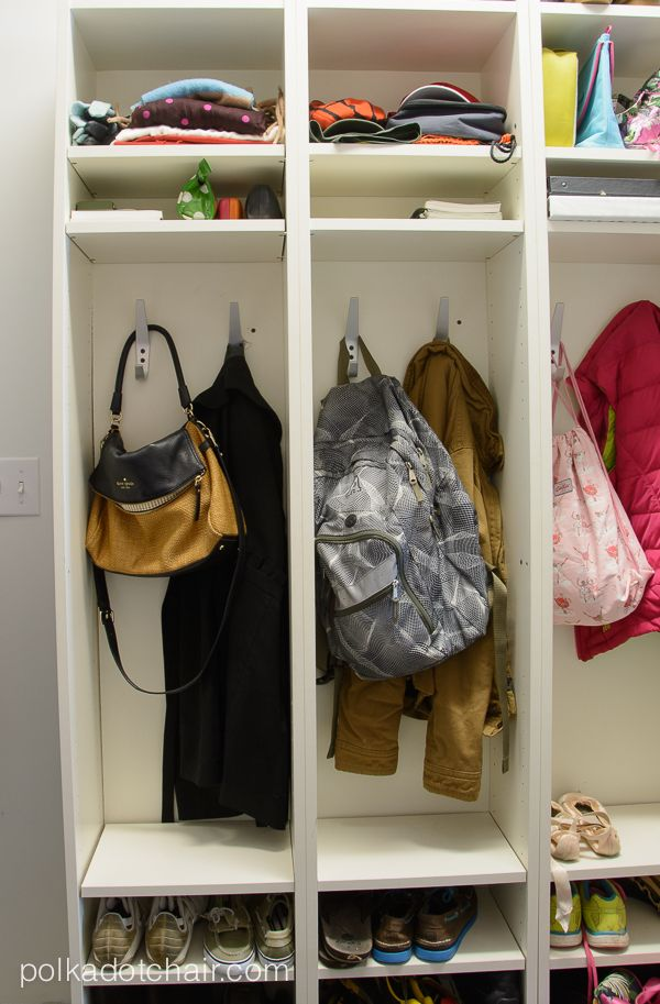 Courtesy Of The Polka Dot Chair. Turn Bookshelves Into Lockers