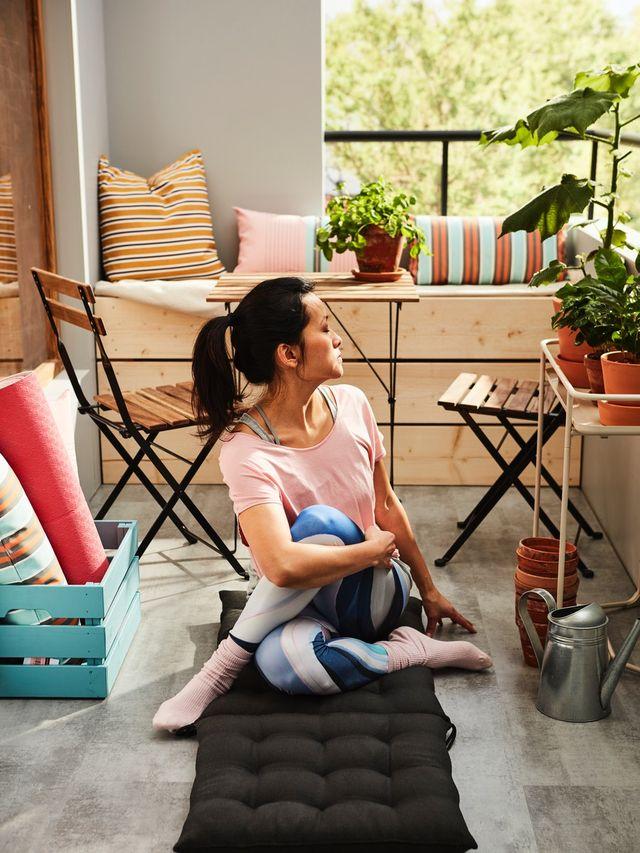 terraza para yoga de ikea