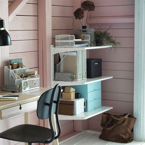 Mesa de escritorio con almacenaje