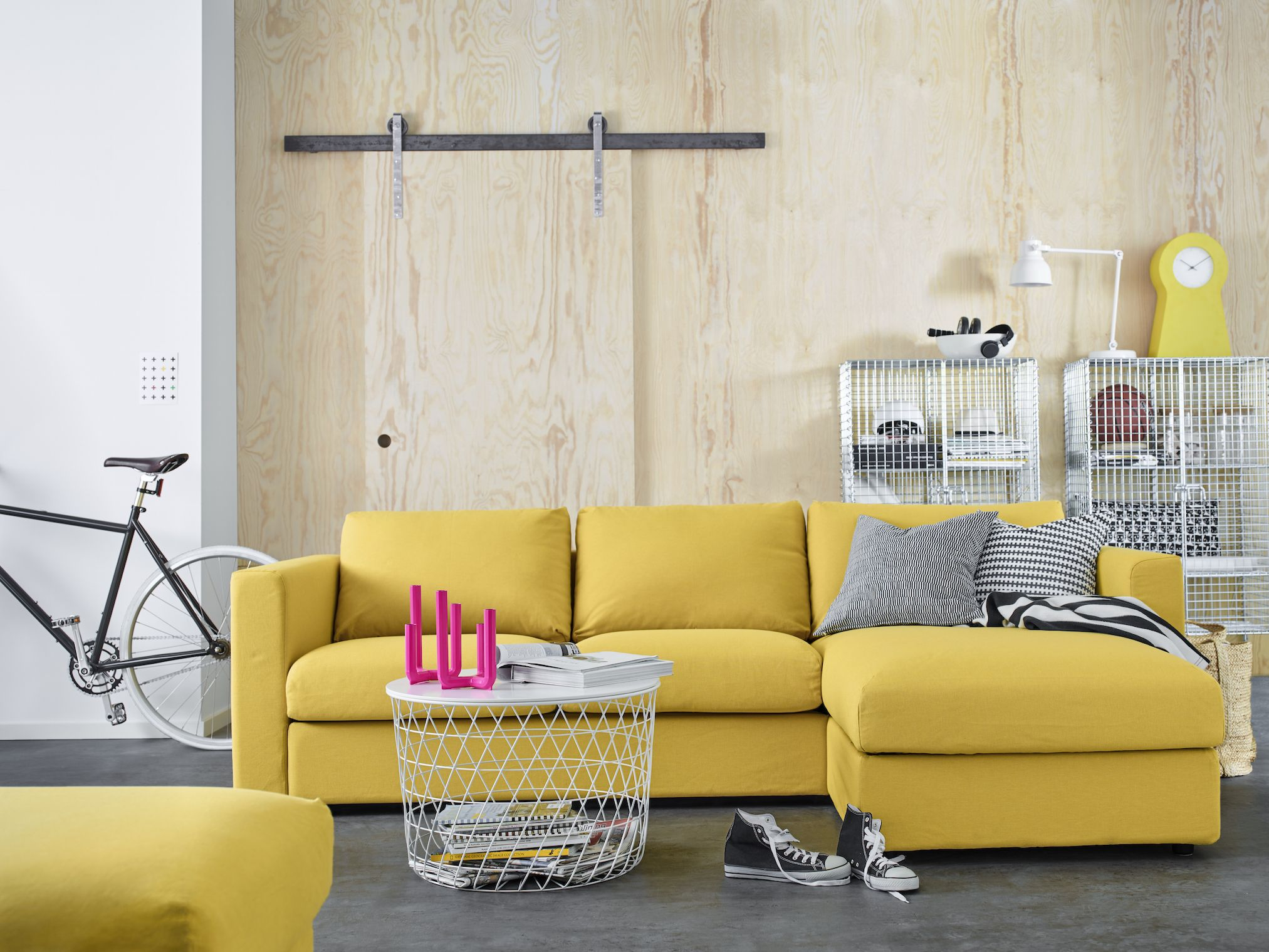 Ikea VIMLE Sofa   Yellow