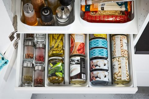 drawer of spices