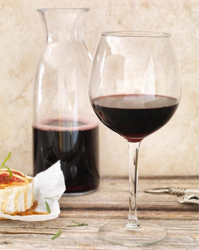 Ikea red wine glass and decanter