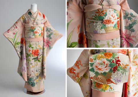 淡い桃色の昭和初期の振袖 甘さと品格を併せもつコーディネート