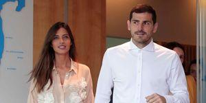 Iker Casillas y Sara Carbonero abandonan el hospital