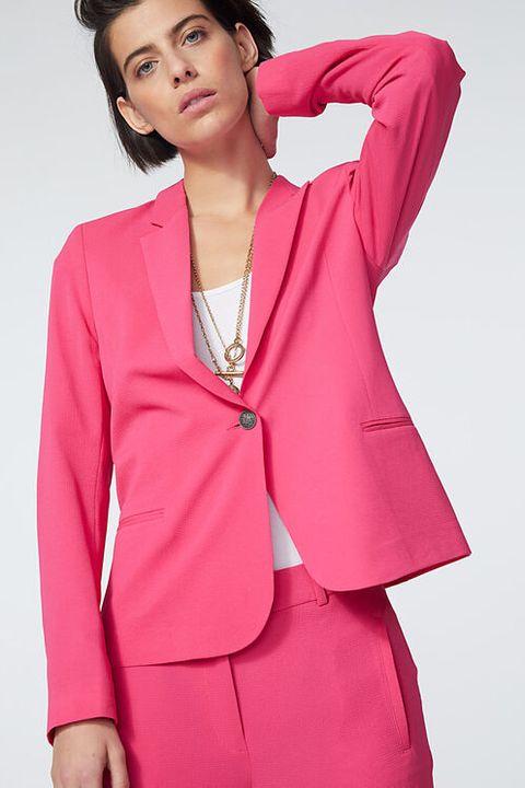 roze blazer ikks