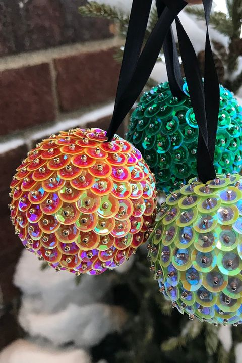 ornaments with sequins