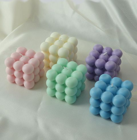 big candle bubble colorful rondjes luchtig kaars soja was soy wax bubbles hand poured aesthetic rapeseed raapzaad