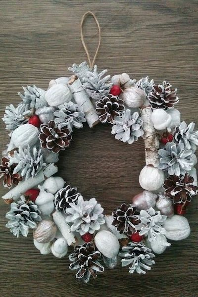 a73e079564299 45 DIY Christmas Wreath Ideas - How To Make a Homemade Holiday ...
