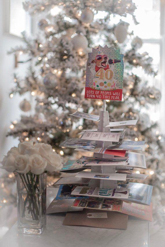 Christmas Card Holders Metallic Christmas Tree