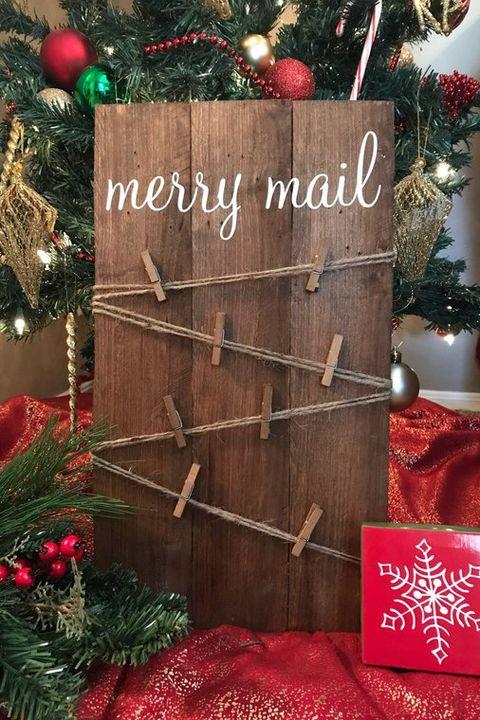 Christmas Card Holder Merry Mail Christmas Card Holder