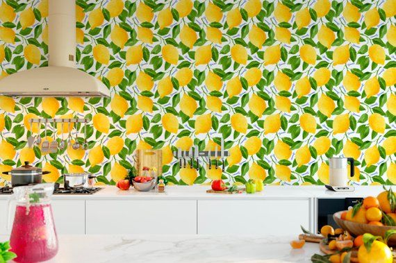 Courtesy Of Etsy. If You Think Wallpaper + Kitchens ...