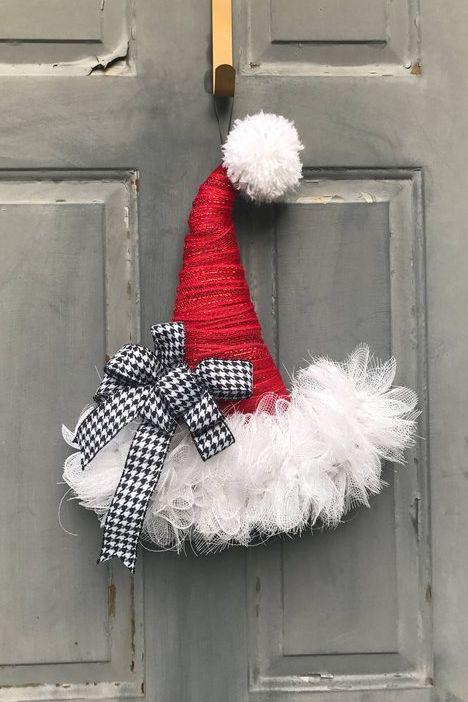 Christmas Wreaths Santa Hat Wreath