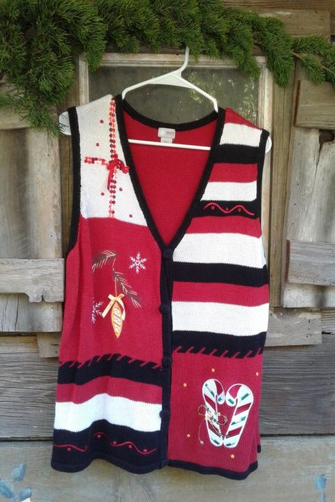 ugly christmas sweater vintage retro ugly christmas sweater vest candy cane