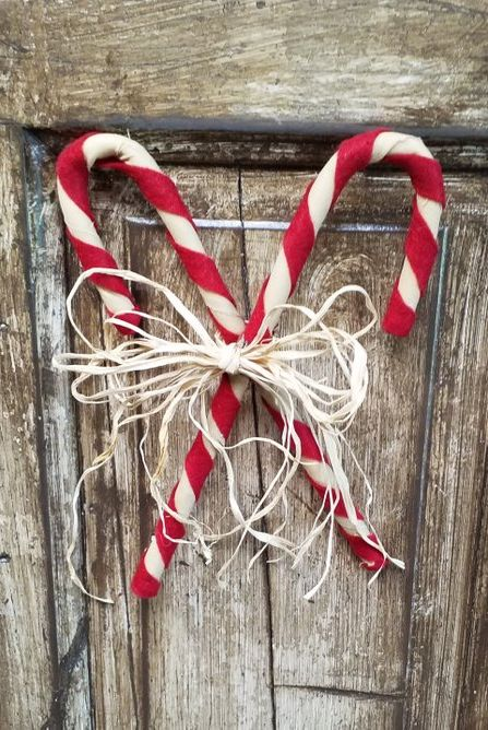 Christmas Door Decorations Candy Canes