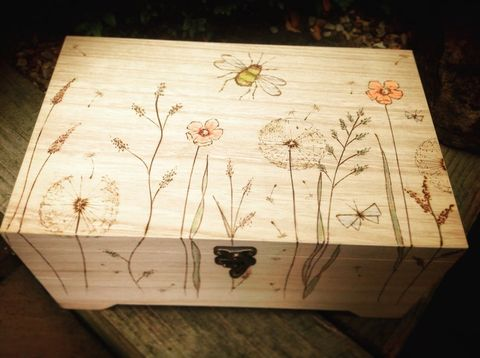 Meadow personalised keepsake memory box