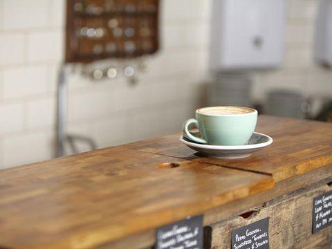 Coffee cup, Cup, Wood, Serveware, Drinkware, Dishware, Table, Teacup, Wood stain, Furniture,