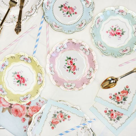 etsy floral paper plates
