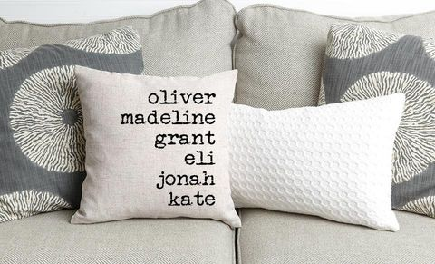 Win Mother's Day With These Customizable Family Pillows