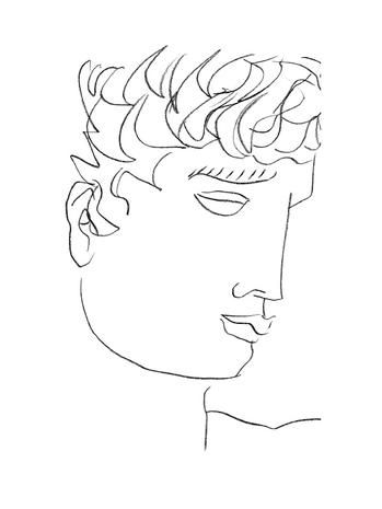 Cheek, Hairstyle, Chin, Forehead, Eyebrow, White, Style, Jaw, Line art, Artwork,