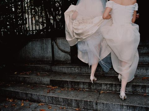 Stairs, Bridal clothing, Foot, Embellishment, Barefoot, Ankle, Love, Stock photography, Toe, Stomach,