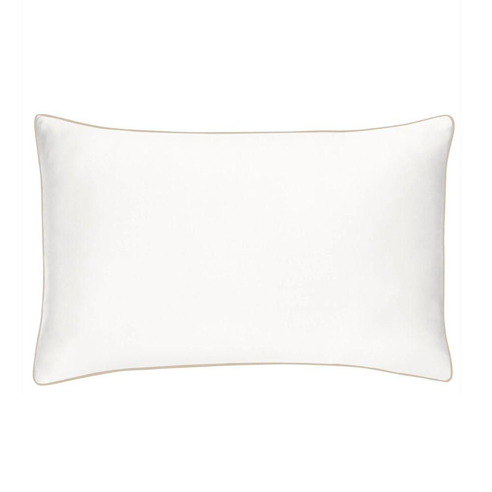 Personalised White Linen Pillowcase