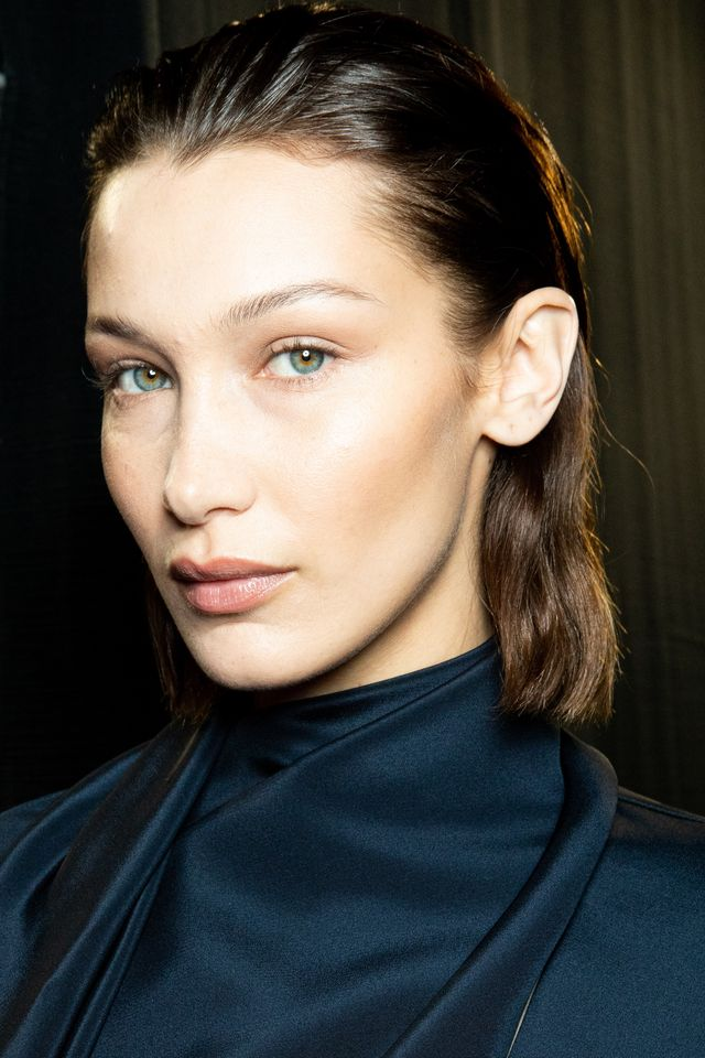 milan, italy   february 23 super model bella hadid is seen backstage at the boss fashion show on february 23, 2020 in milan, italy photo by rosdiana ciaravologetty images