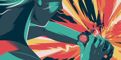 illlustration of runner looking at watch