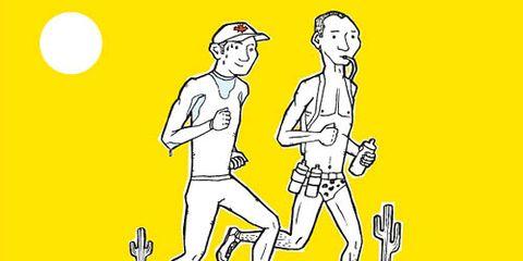 illustration summer running in heat